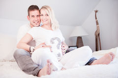 Maternity Photoshooting Royalty Free Stock Photos