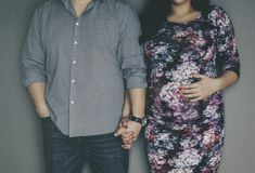 Maternity. Pregnancy  couple love Royalty Free Stock Images