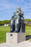 The Maternity, a statue by Fernando Botero. Stock Image