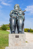 The Maternity, a statue by Fernando Botero. royalty free stock photography