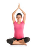 Maternity yoga meditation Royalty Free Stock Photos