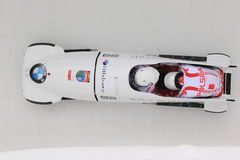 Mateusz Luty - bobsleigh Royalty Free Stock Image