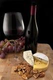 matexponeringsglasrött vin Royaltyfria Bilder