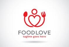 Matförälskelse Logo Template Design Vector, emblem, designbegrepp, idérikt symbol, symbol royaltyfri illustrationer