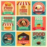 Matfestivalsymboler royaltyfri illustrationer