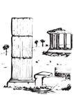 matgreece symboler Royaltyfri Illustrationer
