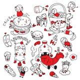 Matgyckelvektor royaltyfri illustrationer