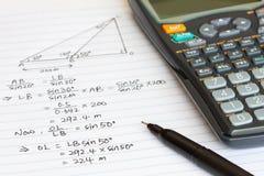 Mathématiques Photographie stock libre de droits