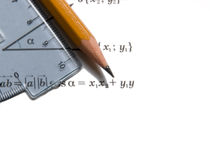 math εργαλεία στοκ φωτογραφία