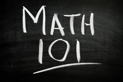 Math 101. In chalk on blackboard Royalty Free Stock Image