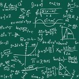 Math. Vector illustration of seamless math background Royalty Free Stock Photography