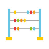 Math abacus isolated icon. Vector illustration design stock illustration