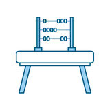 Math abacus isolated icon. Vector illustration design royalty free illustration