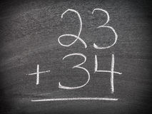 Math addition question Royalty Free Stock Photos