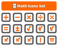 Free Math And Calculator Icons Set Royalty Free Stock Photography - 66051817