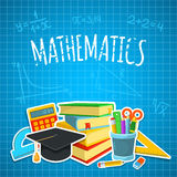 Math backdrop Royalty Free Stock Images