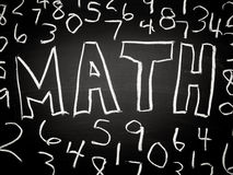 Math background. On chalkboard with numbers Royalty Free Stock Photos