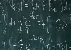 Math Blackboard Stock Images