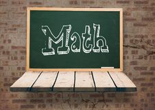 Math on blackboard. Digital composite of Math on blackboard Royalty Free Stock Images
