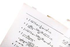Math book closeup Royalty Free Stock Images