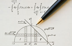 Math book Royalty Free Stock Image