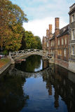 The math bridge in Cambridge University. The mathematics bridge shot in Cambridge University, U.K Royalty Free Stock Images
