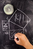 Math calculations Royalty Free Stock Images