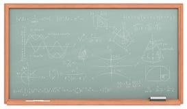 Math Chalkboard. Stock Photo
