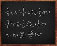 Math Class. Concept shot of a Blackboard with complicated formula. Note that the chalk like text was created digitally stock photos
