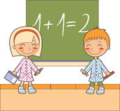 Math classroom time Royalty Free Stock Image