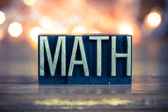 Math Concept Metal Letterpress Type Royalty Free Stock Image