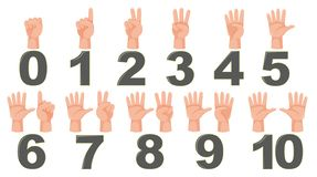 Math count finger gesture. Illustration royalty free illustration