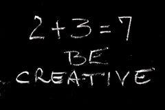 Math creativity. Creative mathematical concept of success and increase stock photos