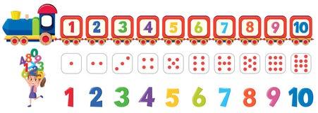 Math dice number element vector illustration