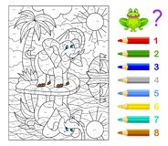 Free Math Education For Children. Coloring Book. Mathematical Exercises On Addition And Subtraction. Solve Examples And Paint Elephant. Stock Image - 177722521