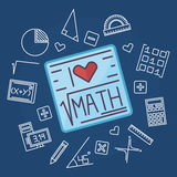 Math education vector background Royalty Free Stock Photo
