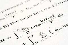 Math equation Stock Photo