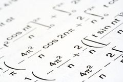 Math equations Stock Photography