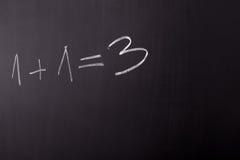 Math error. In writing on blackboard in school stock photo