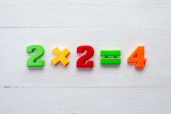 Math example with color numbers Stock Images