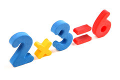 Math example with numbers Stock Image