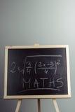 Math exercise on chalkboard Stock Photo