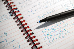 Math exercise at night Royalty Free Stock Photography