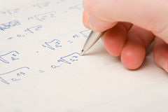 Math exercise study Royalty Free Stock Photo