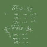 math för chemical formel för brädekrita royaltyfri illustrationer