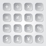 Math Financial Symbols. Web buttons Royalty Free Stock Photos