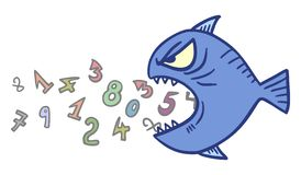 Math fish Stock Images
