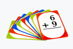 Math Flash Cards Stock Image