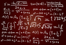 Math formula Stock Photos