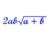 Math formula. Difficult math formula on white background Stock Image